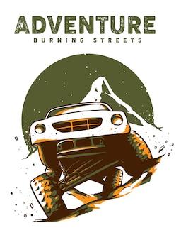 Abenteuer offroad illustration