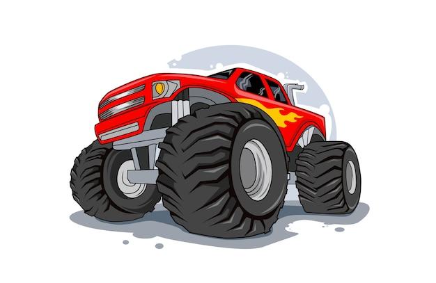 Abenteuer offroad monster truck illustration