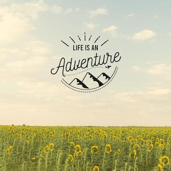 Abenteuer positives zitatkonzept