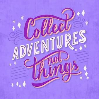 Abenteuer schriftzug konzept