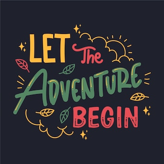 Abenteuer schriftzug