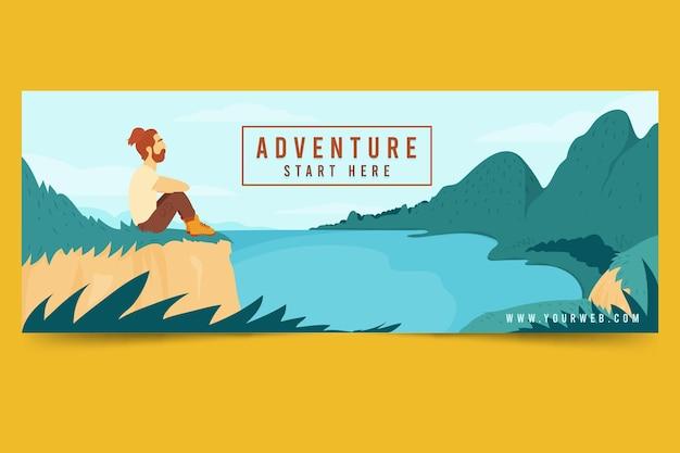 Abenteuer-social-media-cover-vorlage