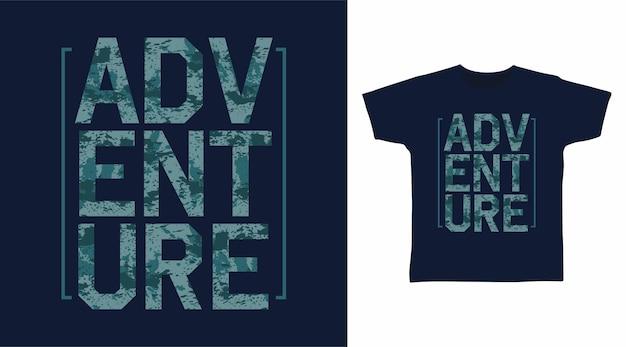 Abenteuer-typografie-t-shirt-design