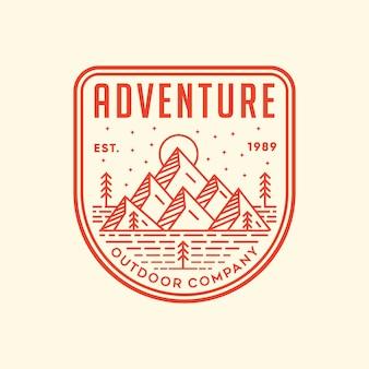 Abenteuer vektor-logo-illustration