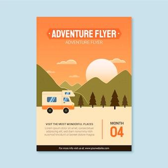 Abenteuer vertikal-flyer-vorlage