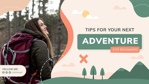 Abenteuer-youtube-kanal-vorlagenkunst mit foto