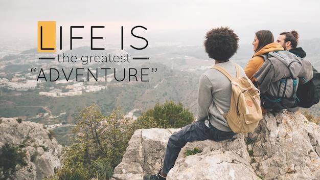 Abenteuer zitiert design