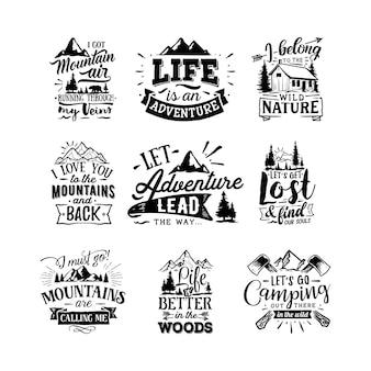 Abenteuer zitiert typografie-schriftzug für das t-shirt-design