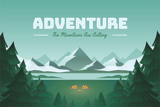 Abenteuerhintergrund mit farbverlauf