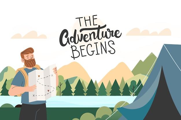 Abenteuerhintergrund