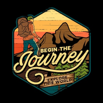 Abenteuerreise illustration