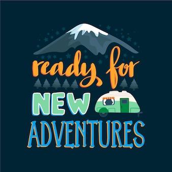 Abenteuerreise schriftzug