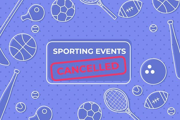 Abgebrochene sportveranstaltungen - hintergrund