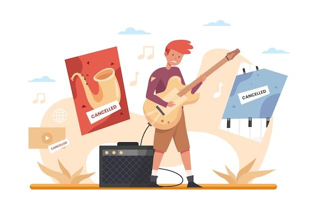 Abgebrochenes thema für musikveranstaltungen