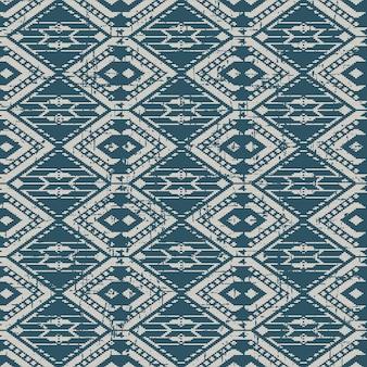 Abgenutztes antikes nahtloses muster mit triangle stitch line