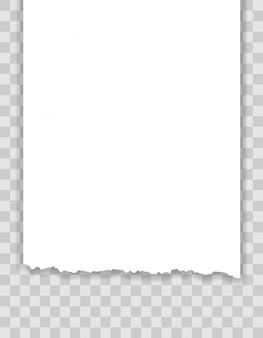 Abgerissene papierkantenillustration
