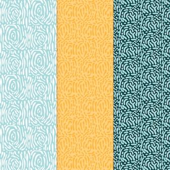 Abgerundete linien nahtloses muster verschiedener farben