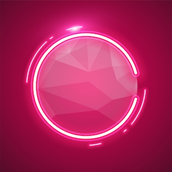 Abgerundete rosa neonfarbe
