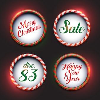 Abgerundete weihnachts-banner