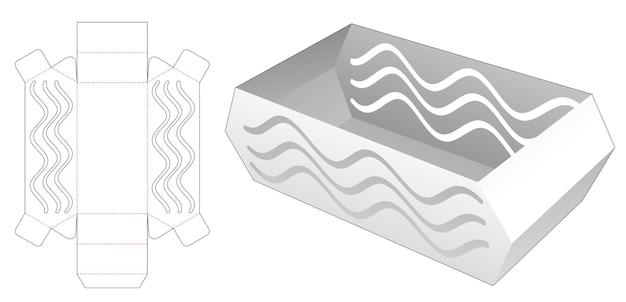 Abgeschrägtes tablett mit schablonierter wellenstanzschablone