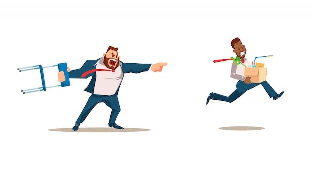 Abgewiesen, verlust des jobs. vektor-illustration.