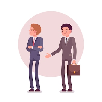 Ablehnung des handshakes