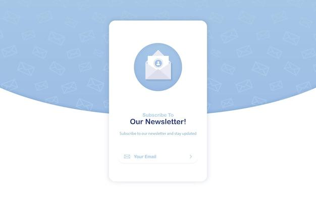 Abonnement der newsletter-popup-banner-vorlage