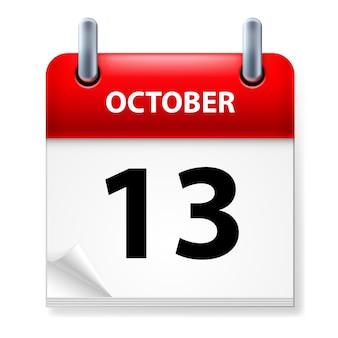 Abreißkalender oktober abbildung