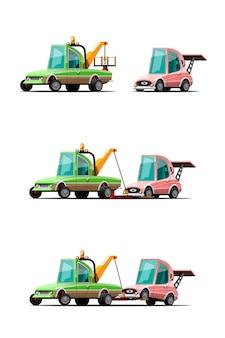 Abschleppwagen gesetzt