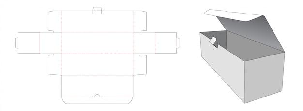 Abschließbare gestanzte pappverpackungsschablone