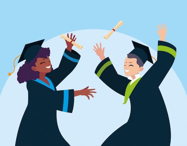 Abschluss junge und studentin