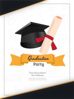 Abschlussfeier einladung.