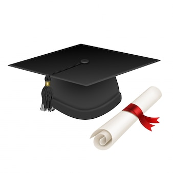 Abschlusshut und diplom