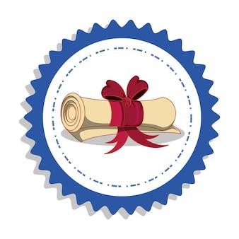 Abschlusskarte mit diplom-symbol
