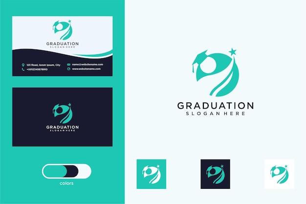 Abschlusslogo-design und visitenkarte
