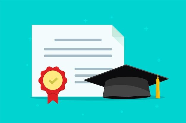 Abschlussunterricht diplom konzept illustration