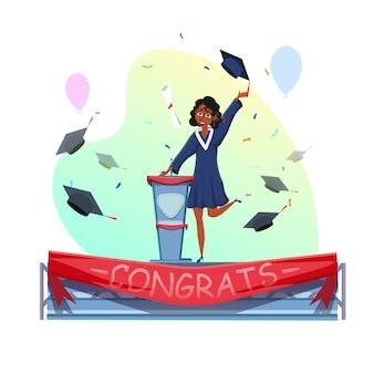 Abschlusszertifikat erhalten und abschlussrede