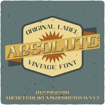 Absolute label-schrift