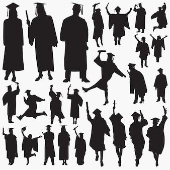 Absolventen silhouetten