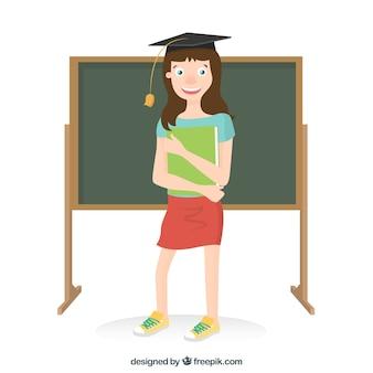 Absolvierte weiblichen studenten