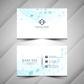 Abstarct stilvollen business-karten-template-design