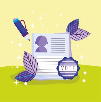 Abstimmung mit stimmzettelkandidat