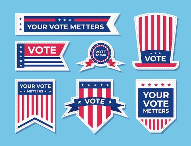 Abstimmungsabzeichen und aufkleber