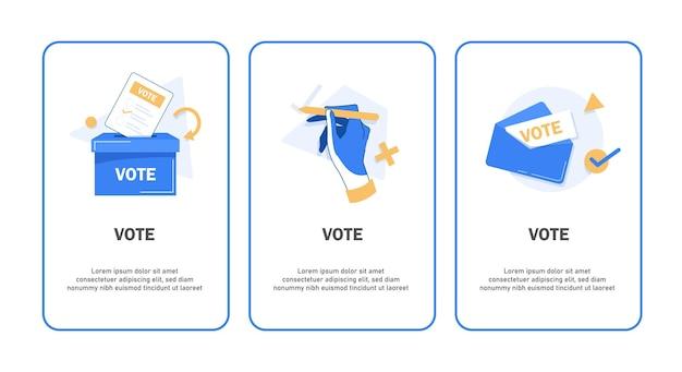Abstimmungsbannerset