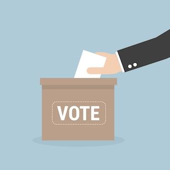 Abstimmungskonzept in der flachen art