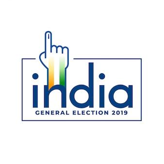 Abstimmungskonzeptdesign der indischen parlamentswahlen 2019