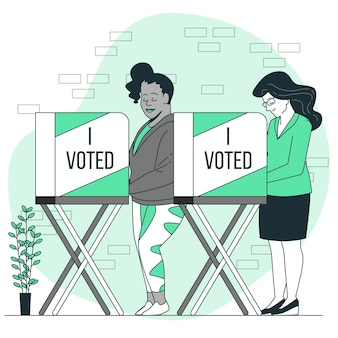 Abstimmungskonzeptillustration