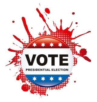 Abstimmungspräsidentenwahlzeichen über weißem hintergrundvektor