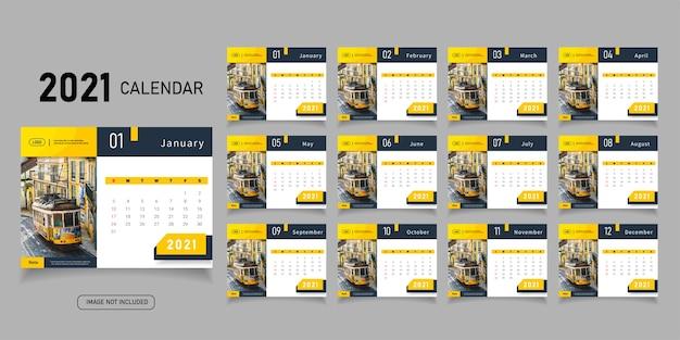 Abstract 2021 kalendervorlage