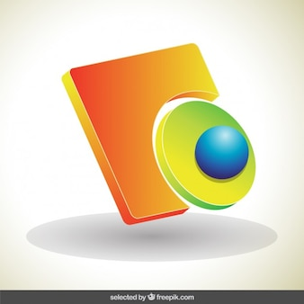 Abstract 3d-logo